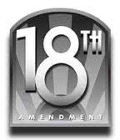 prohibition/18th amendment