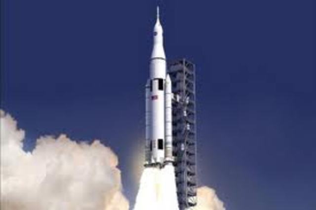Rocket powered flights were between 1961-1963 by the US and putting a man in orbit