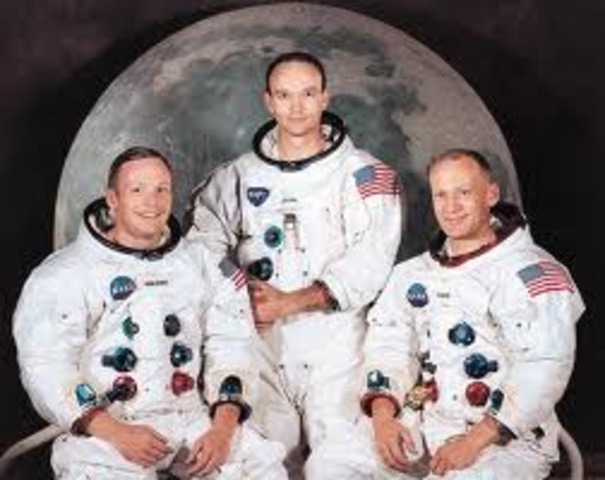 The Apollo 11 crew were the first people to reach the moon