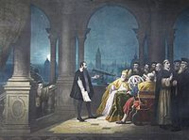 Galileo builds the first telescope.