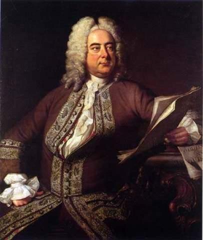 Handel writes Water Music