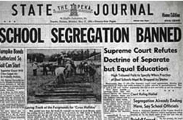 December 9, 1952- The Brown v Board of Education