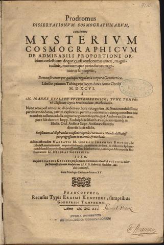 Kepler's Mysterium cosmographicum
