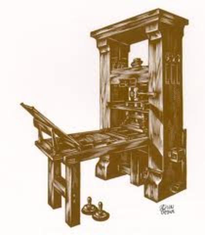 Johan guterburg invents the printing press