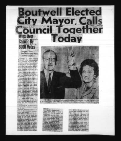 Boutwell Elected City Mayor