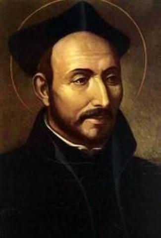 Ignatius of Loyola founds the Jusuit order