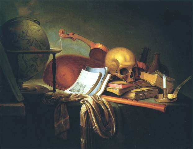 Pieter Van Steenwyck - Ars longa, vitta brevis (L'art est long, la vie est courte)