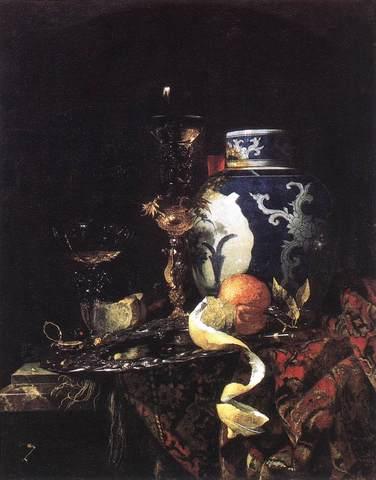 Willem Kalf - Nature morte avec un vase chinois en porcelaine