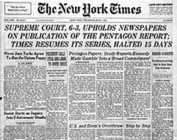 Pentagon Papers in the New York times