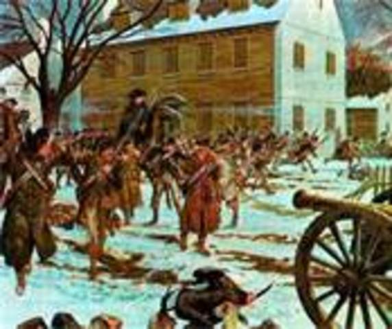 American victory at the Battle of Trenton