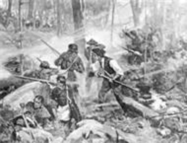 American victory at the Battle of King's Mountain, SC