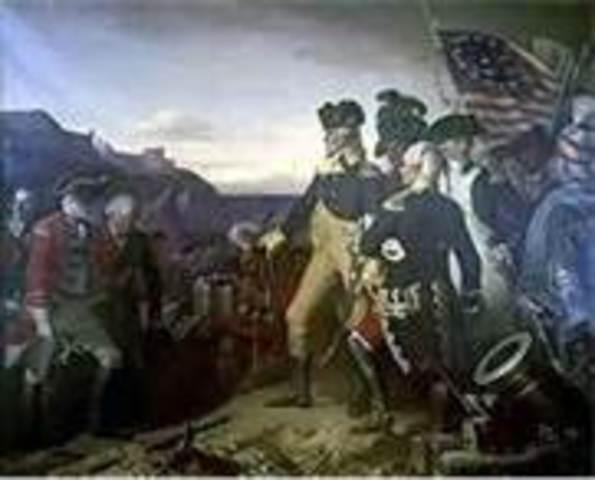 British surrender at the Battle of Yorktown