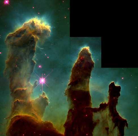 The Spitzer Telescope Takes Images of the Eagle Nebula