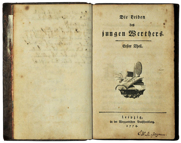 Goethe publishes The Sorrows of Young Werther