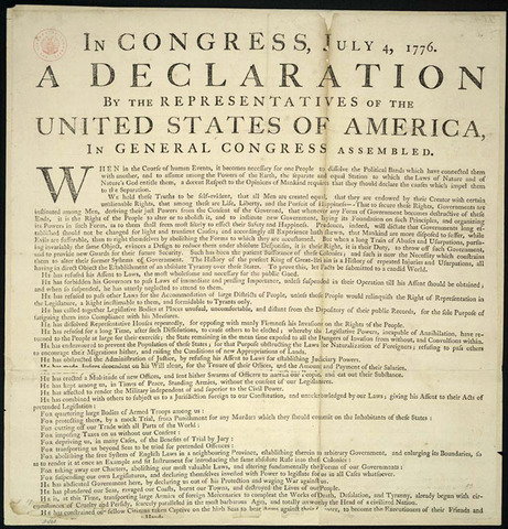 The Declaration of Independence ( 1776)