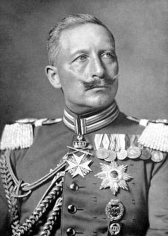 Keizer Wilhelm II van Duitsland vraagt om asiel