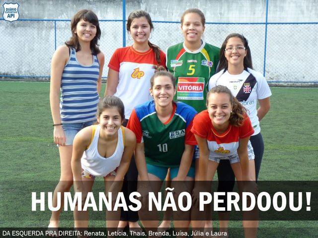 Humanas vence de 16x9 em estreia do feminino