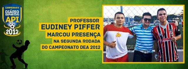 Professor Eudiney Piffer marca presença em campeonato