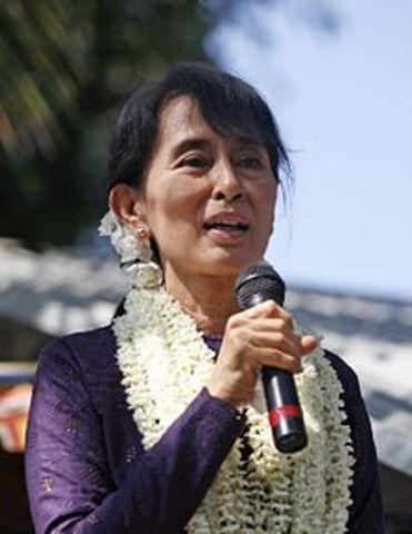 Daw Aung Sun Suu Kyi ( born on 19 June 1945 )
