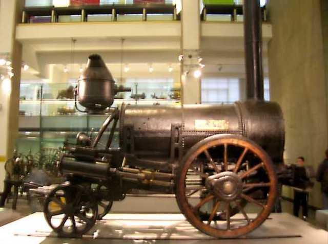 George Stephenson va inventar la locomotora de vapor