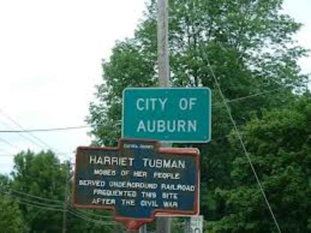 Harriet Tubman settles in New York