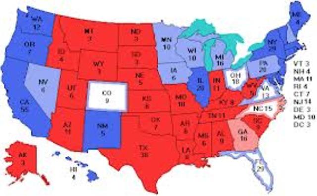 The electors votes