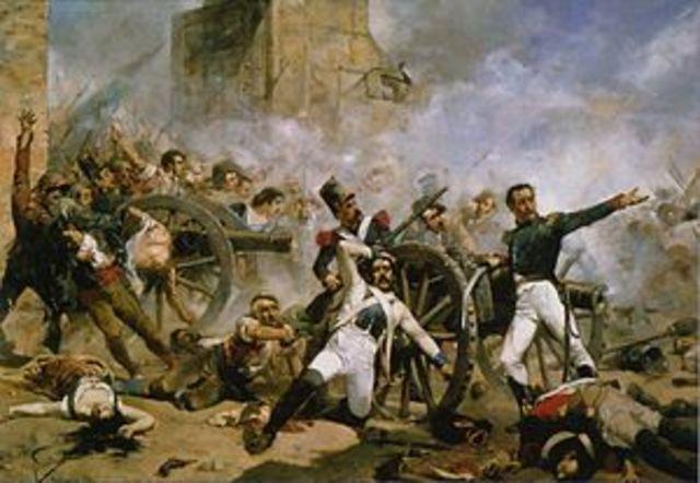 Inicio de la Guerra de la Independencia.