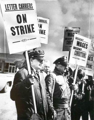 Grève générale d'ouvriers de Canadien Quebecois