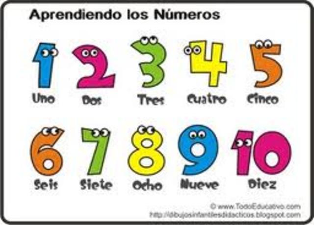 Escribo números del uno al diez