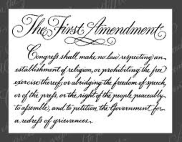 Amendment 1- Religious and Political Freedom