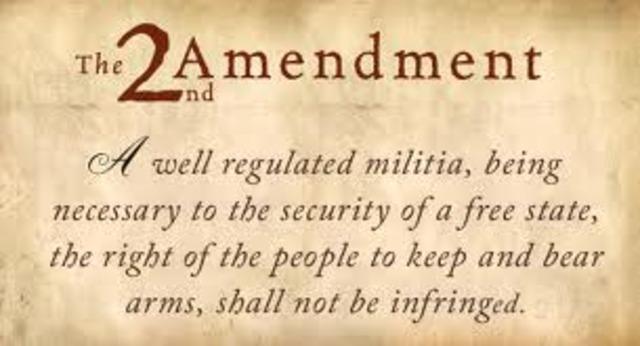 Amendment 2- Right to Bear Arms