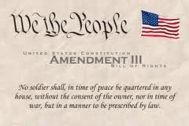 Amendment 3- Quartering Troops