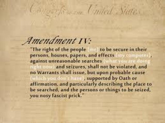 Amendment 4- Search and Seizure