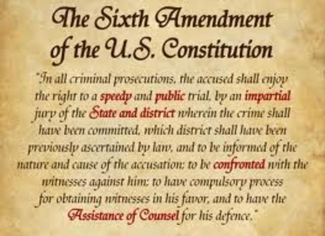 Amendment 6- Right to a Speedy, Public Trial
