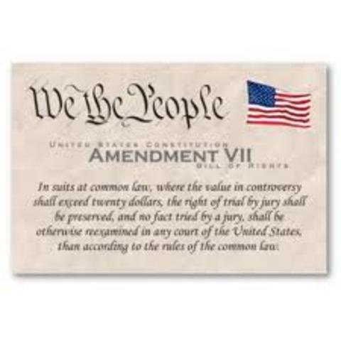 Amendment 7- Trial by Jury in Civil Cases