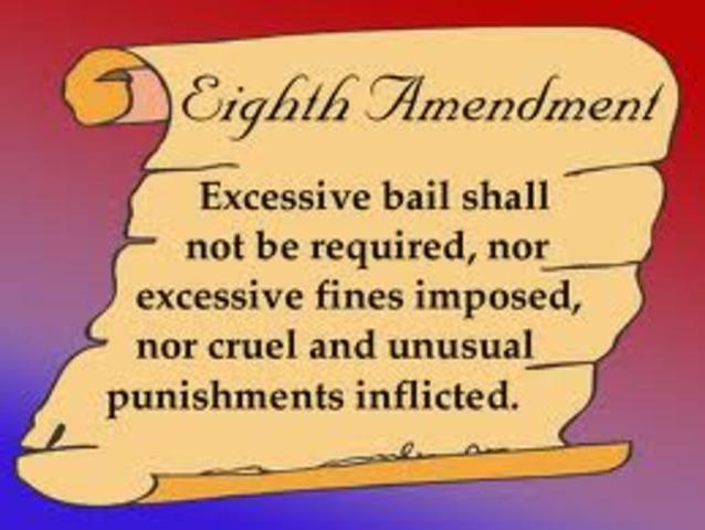 Amendment 8- Limits of Fines and Punishments