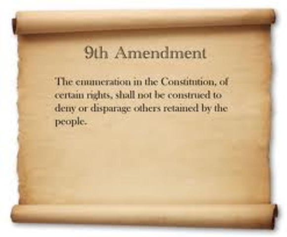Amendment 9- Rights of the People