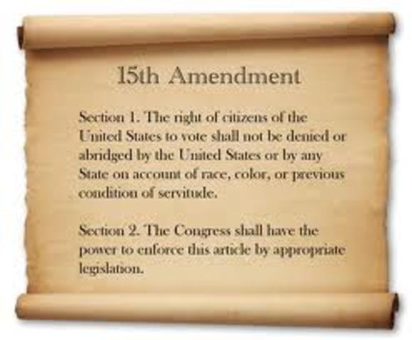 Amendment 15- Right to Vote