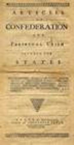 Articles of Confederation written