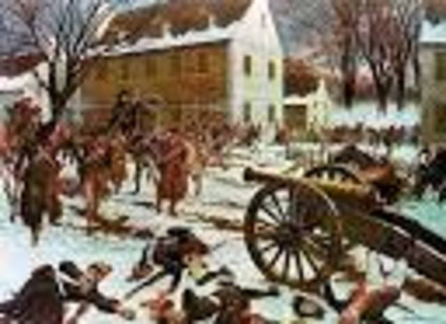 - American victory at the Battle of Trenton