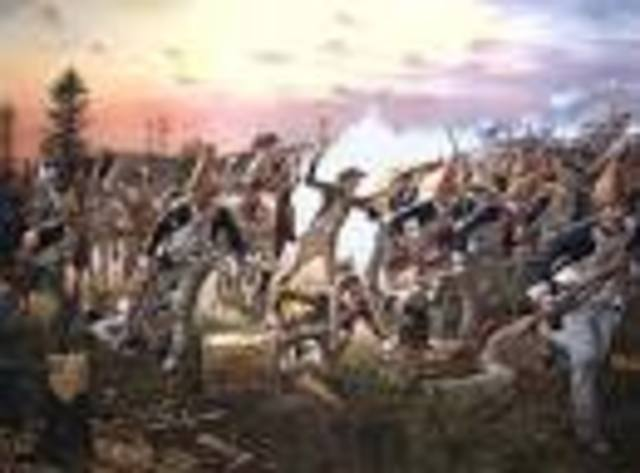 American victory at the Battle of Saratoga