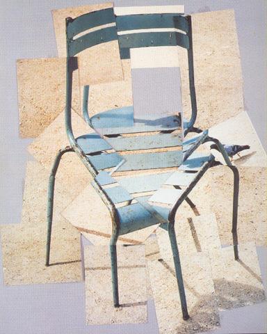 David Hockney - A chair, jardin du Luxembourg, Paris, 10 août 1985
