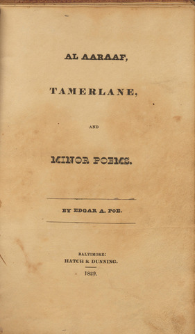Tamberlane and minor poems