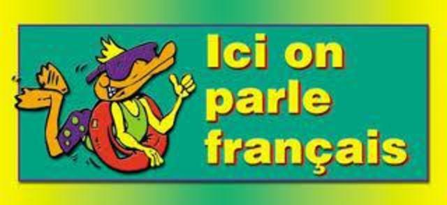 Francais est la langue officiel