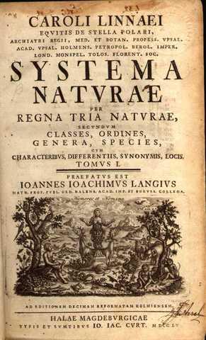Publicó ''Systema Naturae'' Carlos Linneo