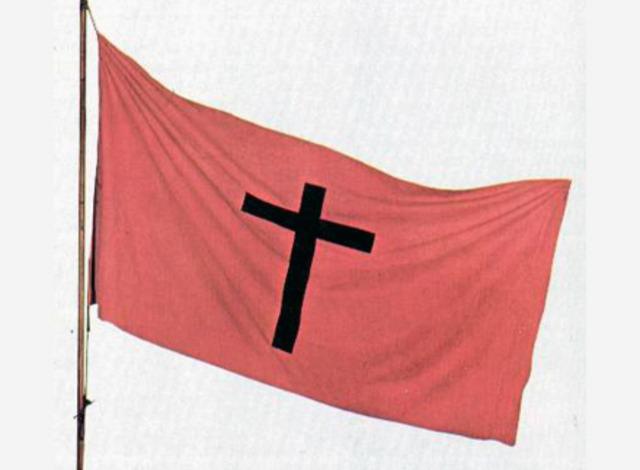 Στο σταυρό αυτό ορκίζονται οι επαναστάτες.