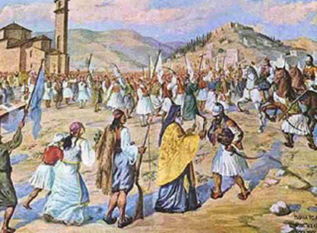 Οι Έλληνες επαναστάτες καταλαμβάνουν την Καλαμάτα