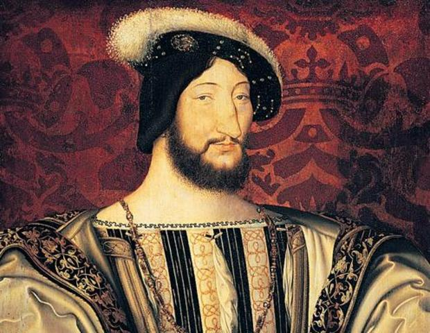 Verrazzano meets with King Francis I
