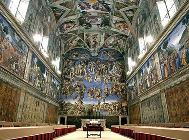 Michelangelo starts painting the Sistine Chapel ceiling