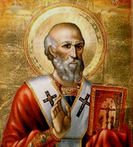 Saint Athanasius writes the list of New Testement books